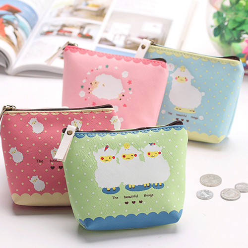2016 Girl Kid Coin Purse Animal Baby Sheep Zipper Case PU Leather Wallet Bag Pouch<br><br>Aliexpress