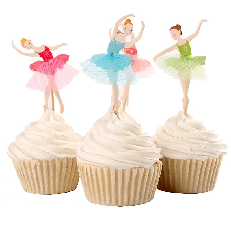 Compre Elegante Bailarina Cupcake Topper Dancer Cake Topper Cake