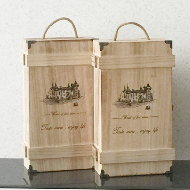 Wine gift box promotion shop for promotional wine gift box for Timber wine box