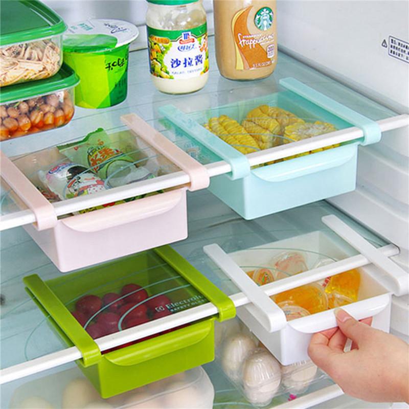 Economic refrigerator storage box fresh spacer layer storage rack creative kitchen supplies twitch type drawer(China (Mainland))