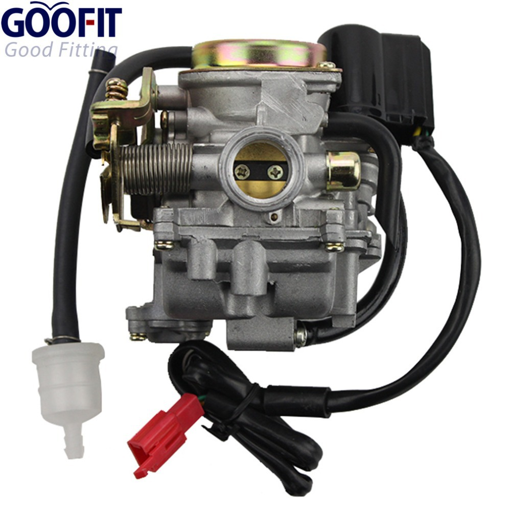 GOOFIT 18mm Carburetor for Scooter Carb GY6 50cc 60cc 80cc Chinese 139qmb Moped 49cc 60cc Carburettor N090-073-1(China (Mainland))