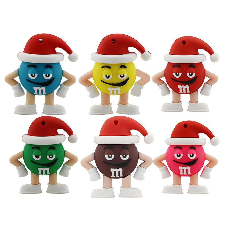 Promotion price Cute Cartoon M&m's Chocolate M Bean 4gb/8gb/16gb/32gb Usb Flash Drive Pendrive 8gb 16gb Memory Stick Pen U Disk(China (Mainland))