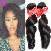 Barbie Hair Peruvian Virgin Hair Peruvian Loose Wave 3 Bundles 7A Unprocessed Loose Wave Hair Extension Beauty Hair Style Brown