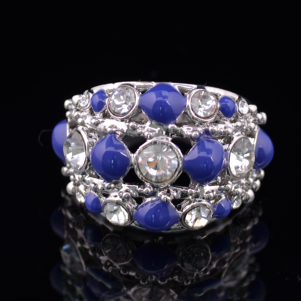 white gold plated fashion ring Shining Bread shape jewelry Bijouterie Accessories for Women With CZ Diamond in J00019(China (Mainland))