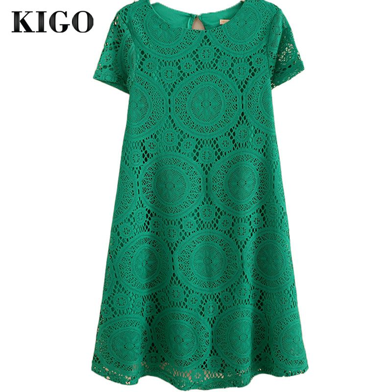 Awesome Asos Tshirt Dress With Short Sleeves In Green  Lyst