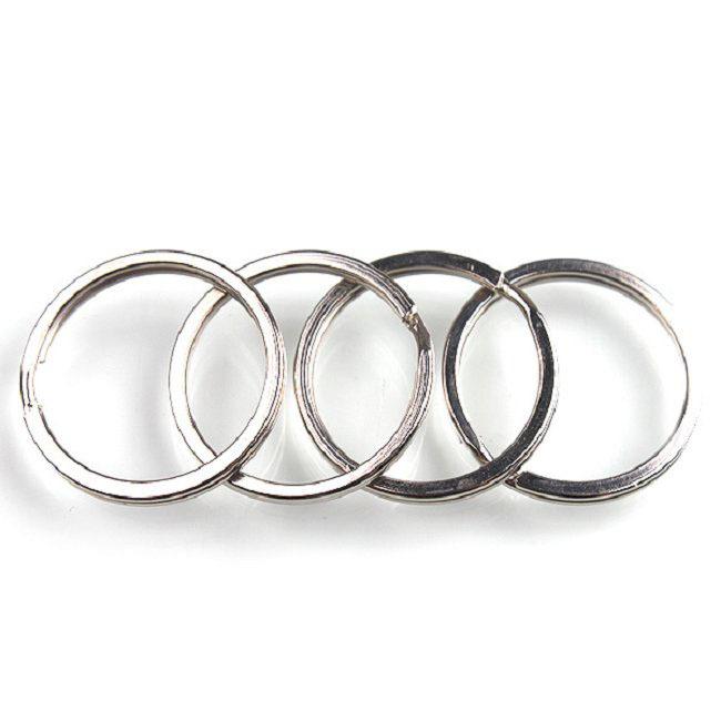 30pcs wholesale rhodium plated metal split key rings
