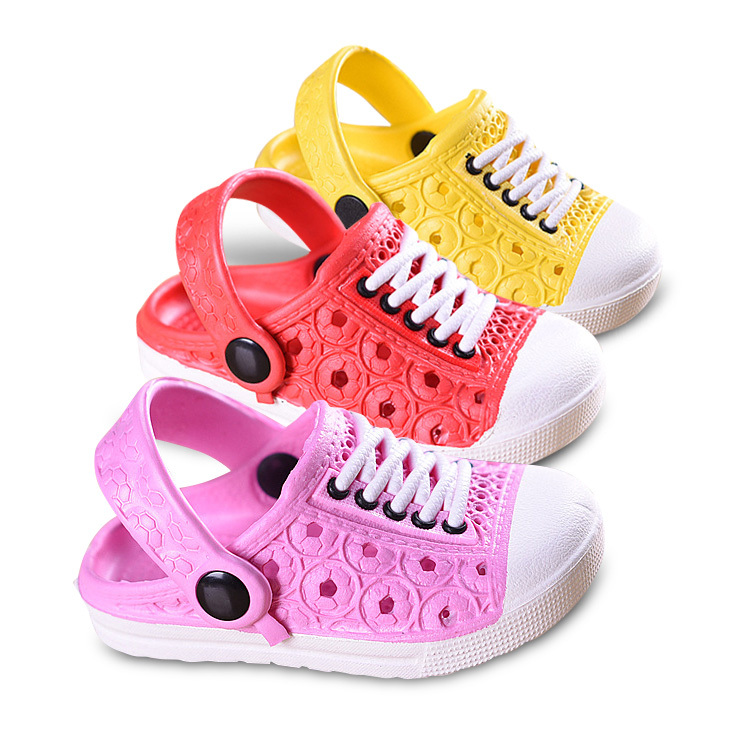 2015 children beach slippers kids unisex boys clogs shoes girls sandals garden slippers drag pink-red free shipping 1-5age(China (Mainland))
