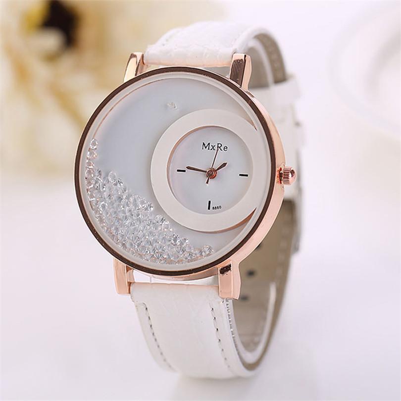 online buy whole most durable watch from most durable durable watch women quartz watch w leather quicksand rhinestone quartz bracelet wristwatch watch
