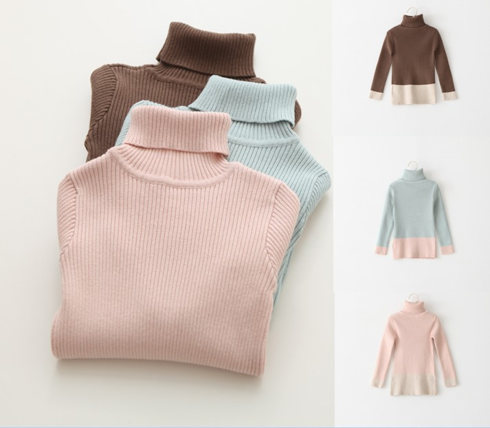 2015 fashion high quality designed candy color girls Long sleeved sweater,brand original high quality for kids children tops 718(China (Mainland))
