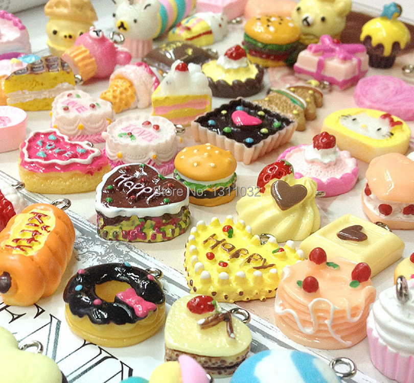 Decoden Sweets Deco Resin Kawaii Cabochon Assorted Pack Sweets Charms 100pcs(China (Mainland))