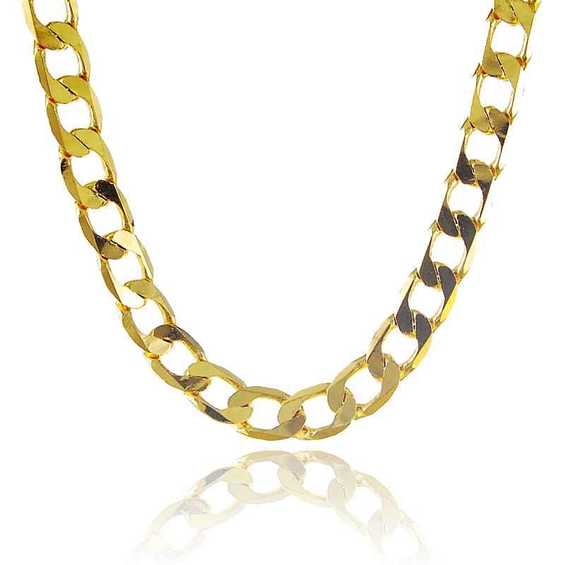Новое прибытие мода 24 к gp позолоченные ожерелье мужская и