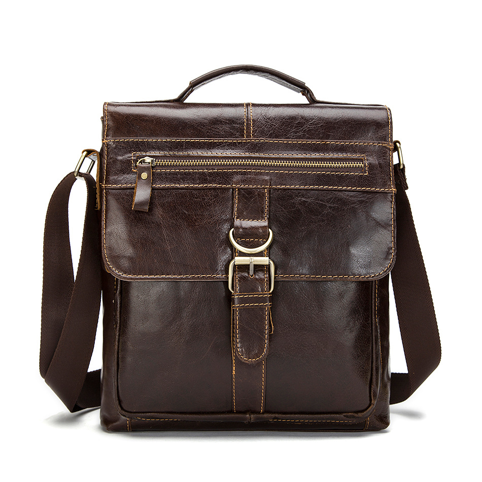 New Vintage Men Shoulder Bag Genuine Leather Messenger Bag for Men High Quality Crossbody Bag Business Cross Body Hand Bag(China (Mainland))