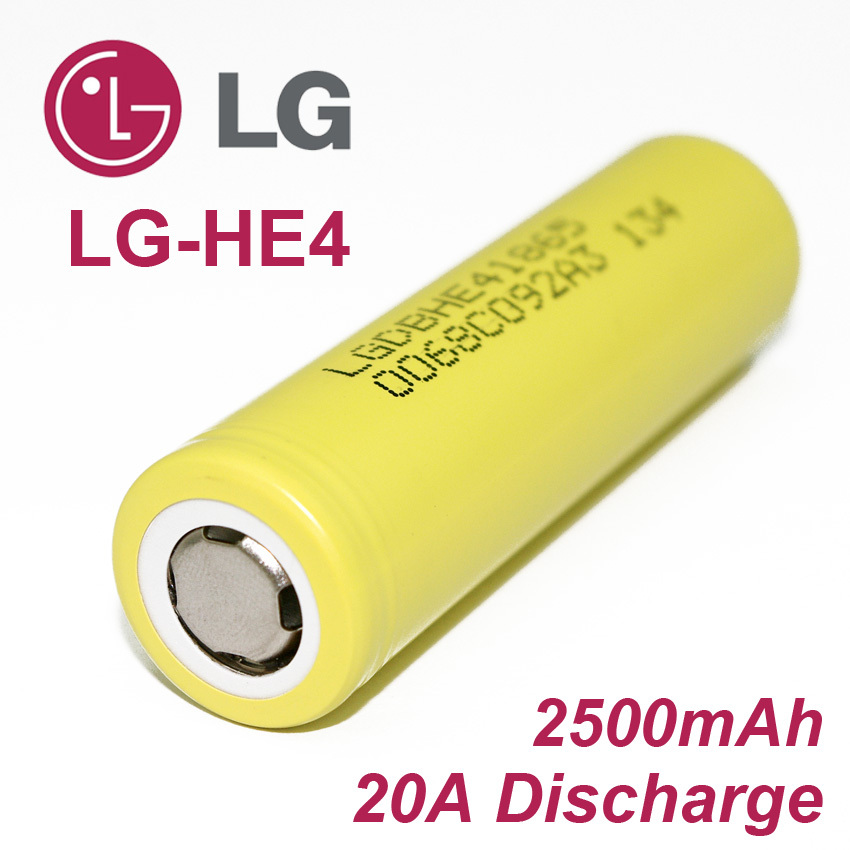 80PCS Original LG HE4 18650 rechargeable lithium-ion battery 3.7V 2500mAh Battery can keep electronic cigarette 20A discharge<br>