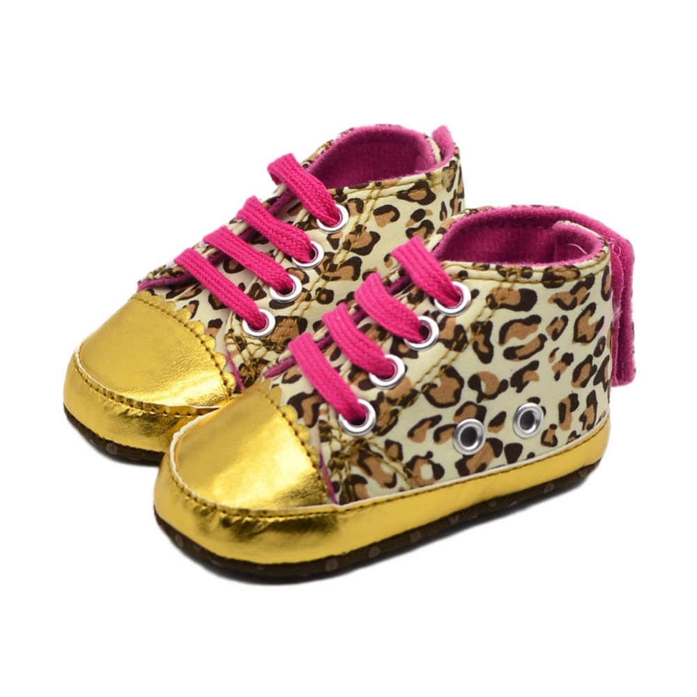Fancy Baby Items Golden Leopard Baby Toddler Shoes 3 Sizes S M L Drop Shipping BB0010(China (Mainland))