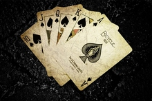 Cards poker the game digital art ace of spades card game dark background play 4 Sizes Home Decoration Canvas Poster Print(China (Mainland))
