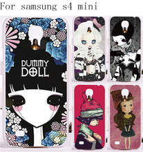 HOT!Newest Hard Plastic and Soft TPU Phone Cases Cover For Samsung Galaxy S4 mini I9190 Case Smournful Lady Print Function Shell
