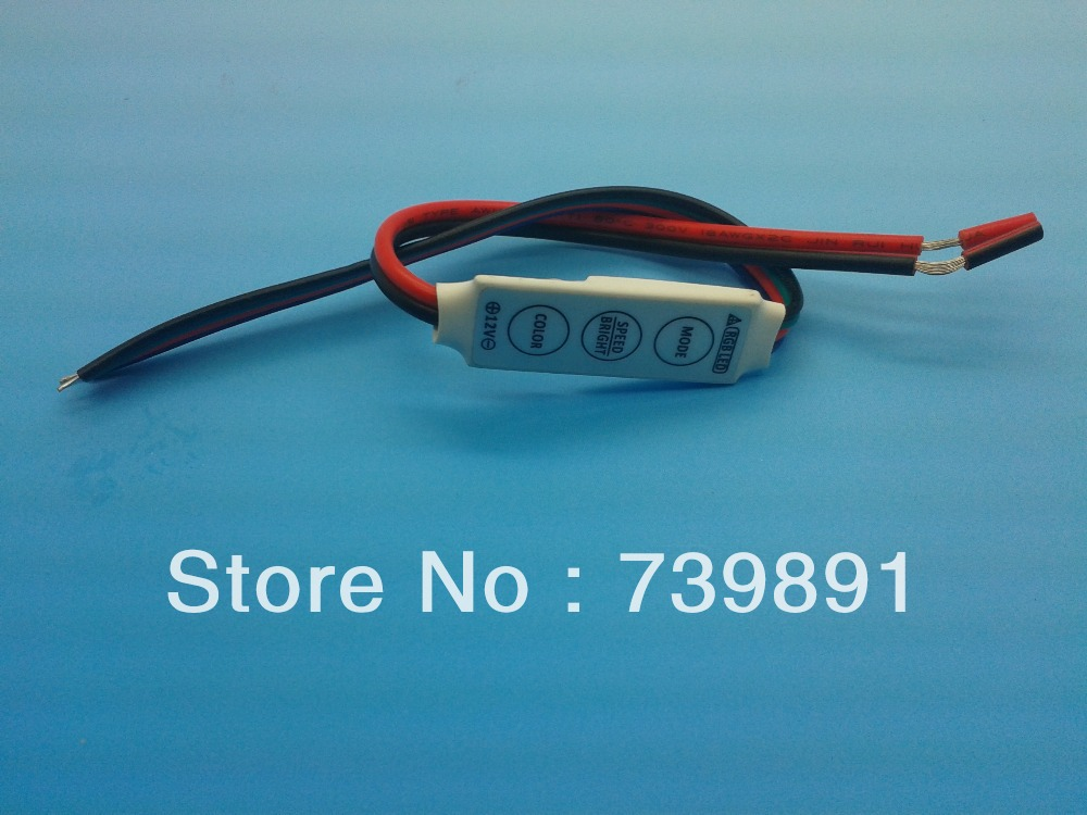 DC12V mini rgb controller Dimmer for 5050 3528 RGB Strips 3*4A Dynamic 19 Modes 20 static colors 10pcs/set(China (Mainland))