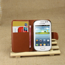 For Samsung Galaxy Fame S6810 S6810P S6812 Case Luxury Soft Wallet Litchi PU Leather Case Cover With Card Holder Flip Stand(China (Mainland))