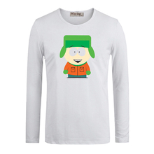 Cute Cartoon South Park Kyle Broflovski Cotton Long Sleeve Tops Tees for Boy Casual Clothing Anime cosplay family T shirt(China (Mainland))