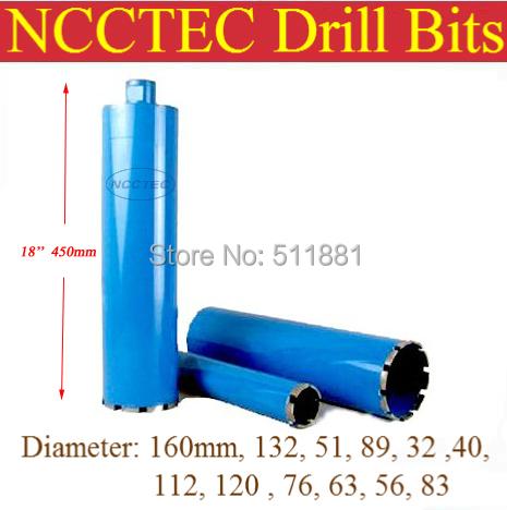 Фотография 63mm*450mm crown diamond drilling bits FREE shipping | 2.5