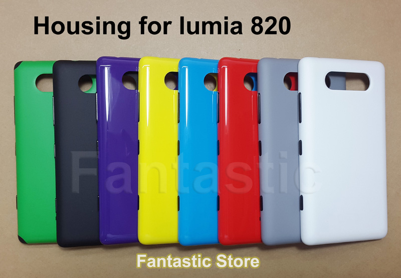 Original New Housing for Nokia lumia 820, Genuine Back Cover, Battery Cover Case for Nokia 820, with side button(China (Mainland))