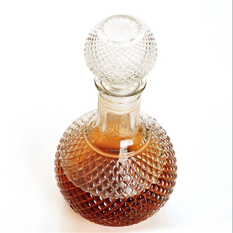 High Quality Newest 1000ml Crystal Whiskey Wine Shot Glass Bottle With Cap Stopper Drinking Bar Decanter(China (Mainland))