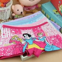 2015 New 2 10T 4Pcs Baby Girls Briefs Fashion Boxer Underwear Kids Cute Cartoon Panties Children