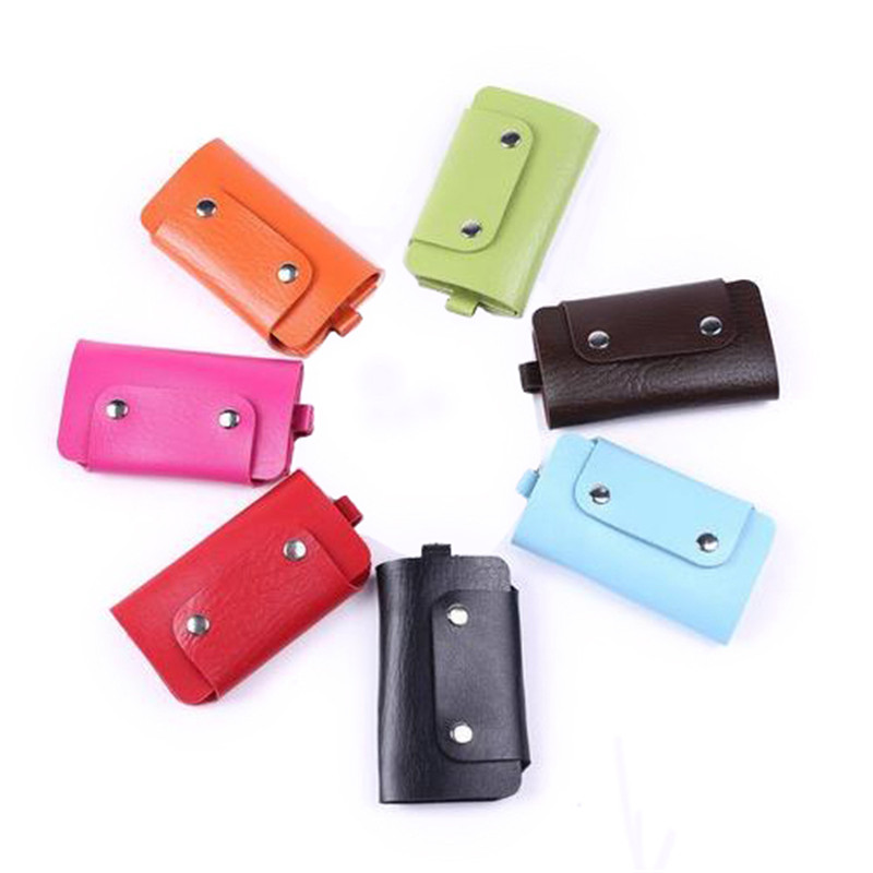 Fashion Buckle Key Wallets Classic Style Pu Leather Solid Candy Lovely Colors Keys Holders For Men women #04<br><br>Aliexpress