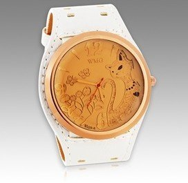 2012 latest style WMG Stylish Unisex Cat Design Analog Watch (Black.white.red.brown).Gift watch+free shipping