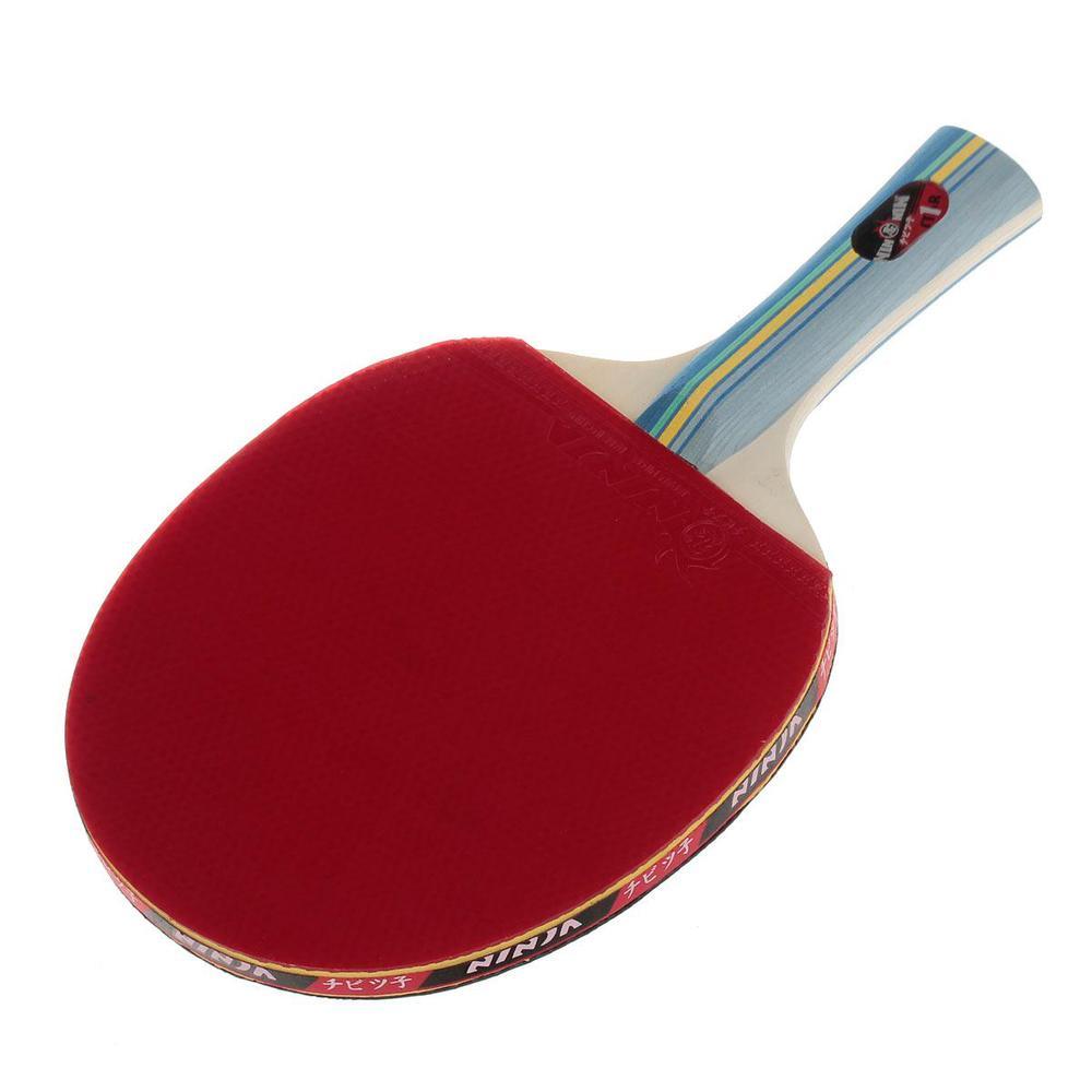 NINJA N1002 Sports 1 Star Table Tennis long handle pingpong bat Paddles racket with 2 white Ping-Pong Balls(China (Mainland))