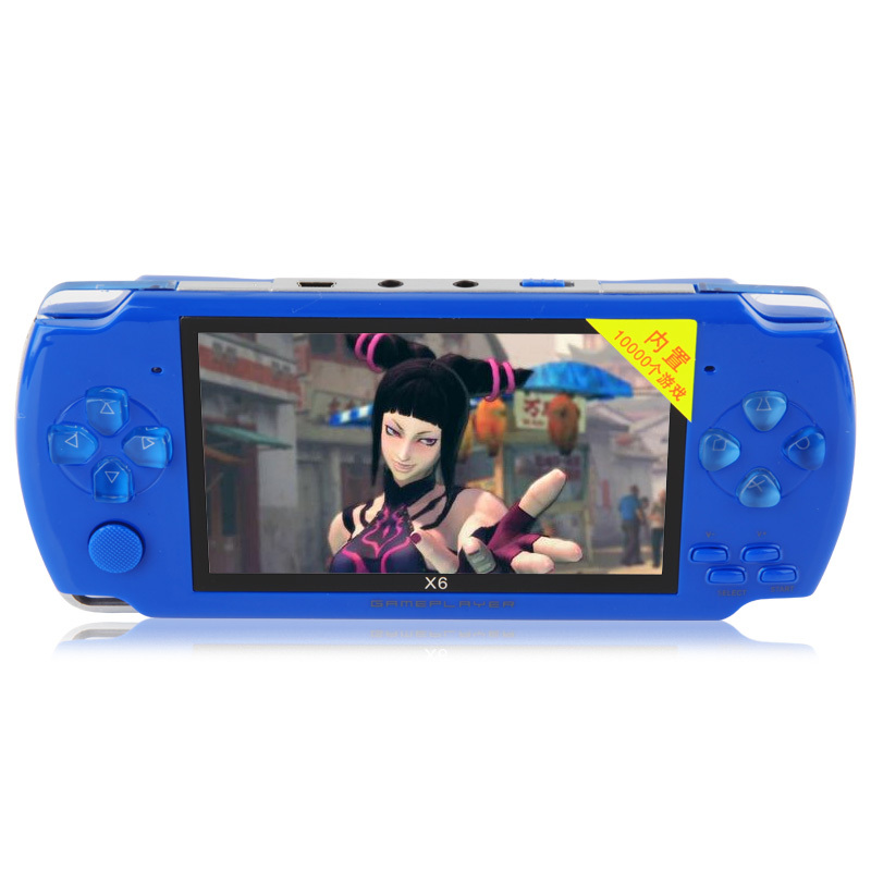 New 8GB4.3 inch screen PSP handheld console, MP3MP4MP5 music player style with camera TV OUT function Built-in games 10000(China (Mainland))