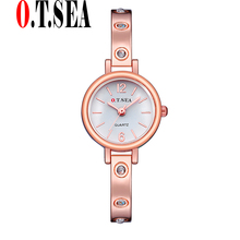 Buy New O.T.SEA Brand Rose Gold Watches Women Ladies Crystal Dress Quartz Wristwatches Relogios Feminino OTS062 for $2.79 in AliExpress store