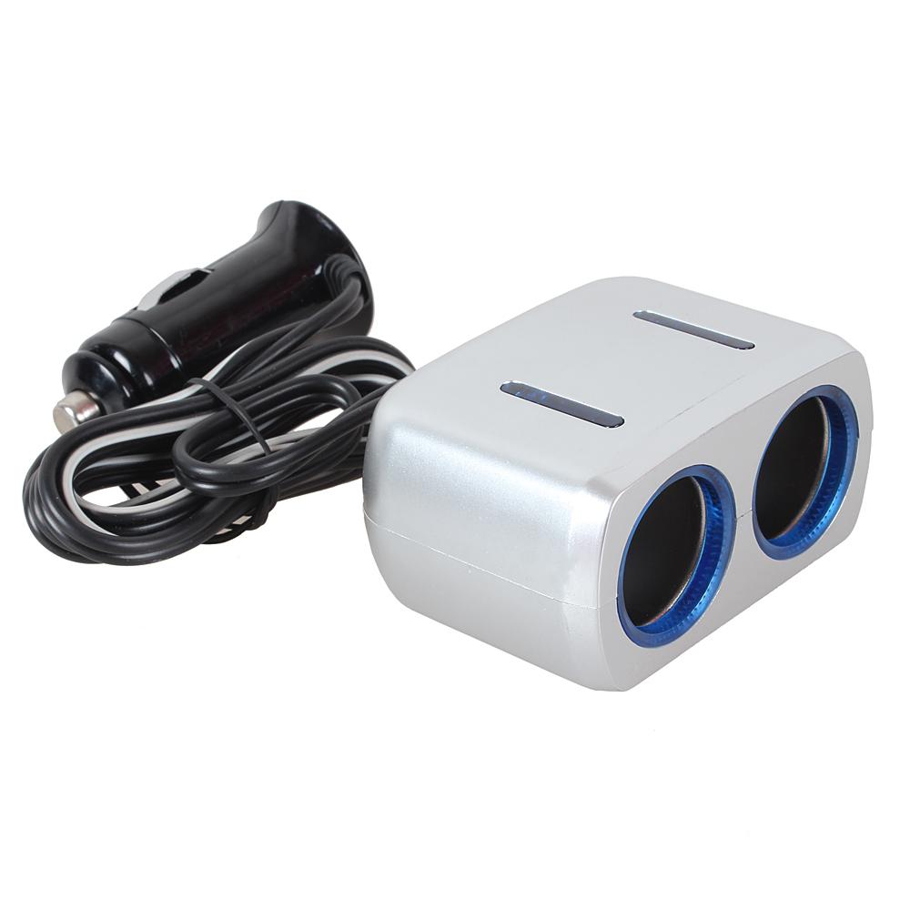 Power Adapter Charger 12v 24v Usb Led Light Switch Socket Two Way Car Cigarette Lighter Car