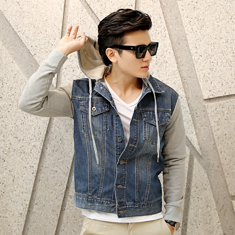 High Quality New Men Denim Jacket High-end Mens Denim Jacket Fashion Men Jean Jacket Blue Big Size M-XXXXXLОдежда и ак�е��уары<br><br><br>Aliexpress
