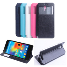 For Elephone P6000 Phone Case Luxury Vintage View Window PU Flip Leather Cover For Elephone P6000 P6000 Pro Cases Bag Capa Funda