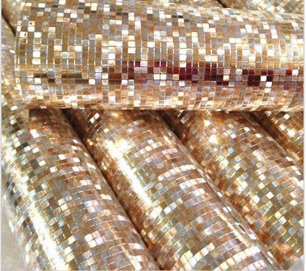 Papel de parede luxury glitter mosaic wallpaper for Mosaic wallpaper for walls