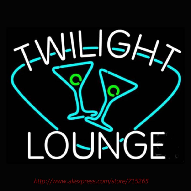 Twilight Lounge With Glass Neon Sign Neon Bulbs Led Signs Real Glass Tube Recreation Room Restaurant Hotel Store Display 31x24(China (Mainland))