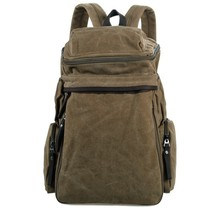 10PCS/LOT Classic Brown Canvas Backpack/Laptop Bag