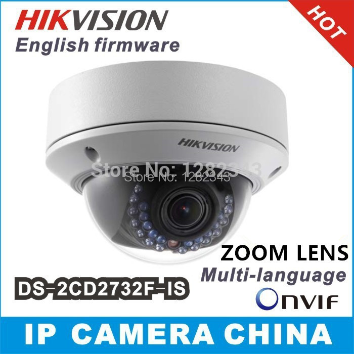 Камера наблюдения HIKVISION ds/2cd2732f/3mp ip w/poe DS-2CD2732F-I (S) hikvision international version ds 2cd1031 i replace ds 2cd2032 i 3mp ip mini bullet camera support ezviz poe ir 30m outdoor