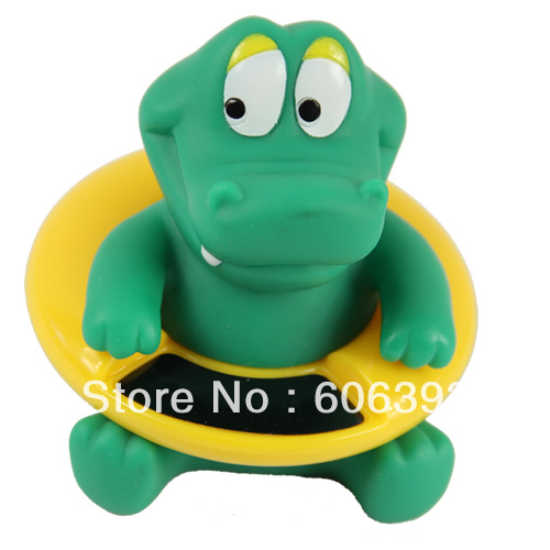 C18 Cute Crocodile Baby Bath Tub Thermometer Infant Water Temperature Tester Bathing Temperature Toy(China (Mainland))