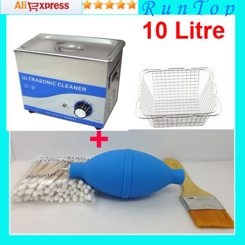 free shipping 10 Liter 240W Computer Motherboard PCB Ultrasonic Cleaner Bath JP-040B with 1 Free Basket 110v 220v Available(China (Mainland))