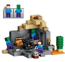 LELE My world Minecraft Dungeon 237pcs Building Blocks Assemble Figure Enlighten Bricks Toys mye