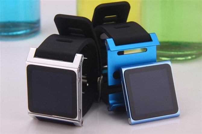 Luxury Colorful second generation Insert style Metal Aluminum Frame + Silicon Wrist Strap Cover bag Case For apple iPod Nano 6th(China (Mainland))