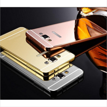 Hot Mirror Aluminum Metal Acrylic Phone Cover Capa For Samsung Galaxy S4 S3 Neo A3 A5 A7 Grand Neo Plus GT I9060I I9060 I9082(China (Mainland))