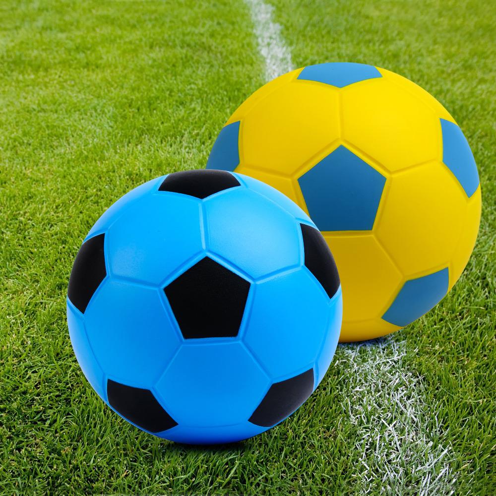 Yellow & Sky Blue Blue & Black Soccer Balls Size 4 Football Balls Professional Football Soccer Ball PU Foam No Air Bladder Balls(China (Mainland))