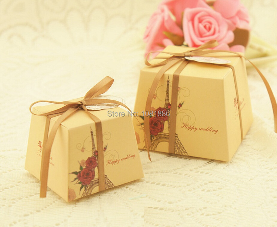 square wedding candy boxes wedding favor gift box chocolate box small