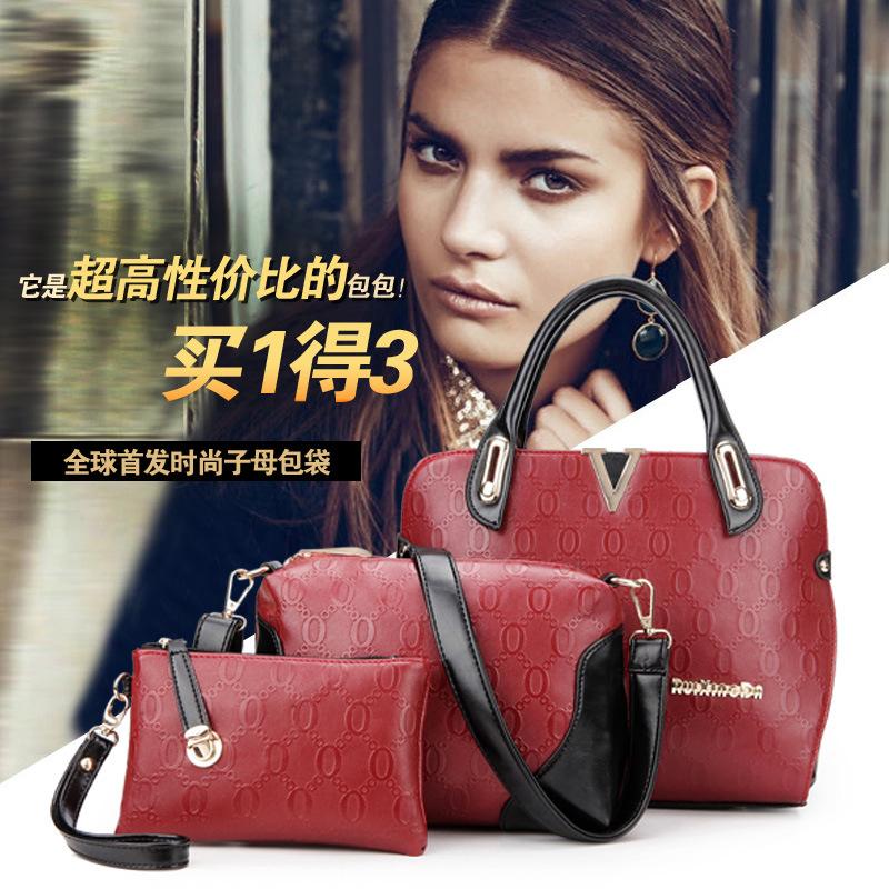 Здесь можно купить  2015 new handbag fashion picture three piece portable single shoulder bag factory wholesale  Камера и Сумки