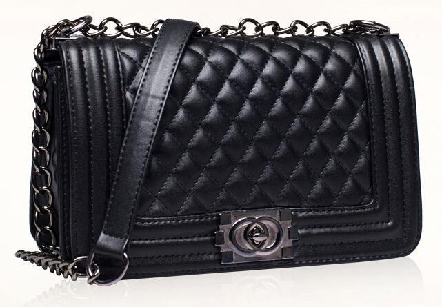 Brand Woman Bag Famous Design Brand Chain Shoulder Bag Plaid Crossbody bolsa feminina Messenger Bag Women Handbag Black Clutches<br><br>Aliexpress