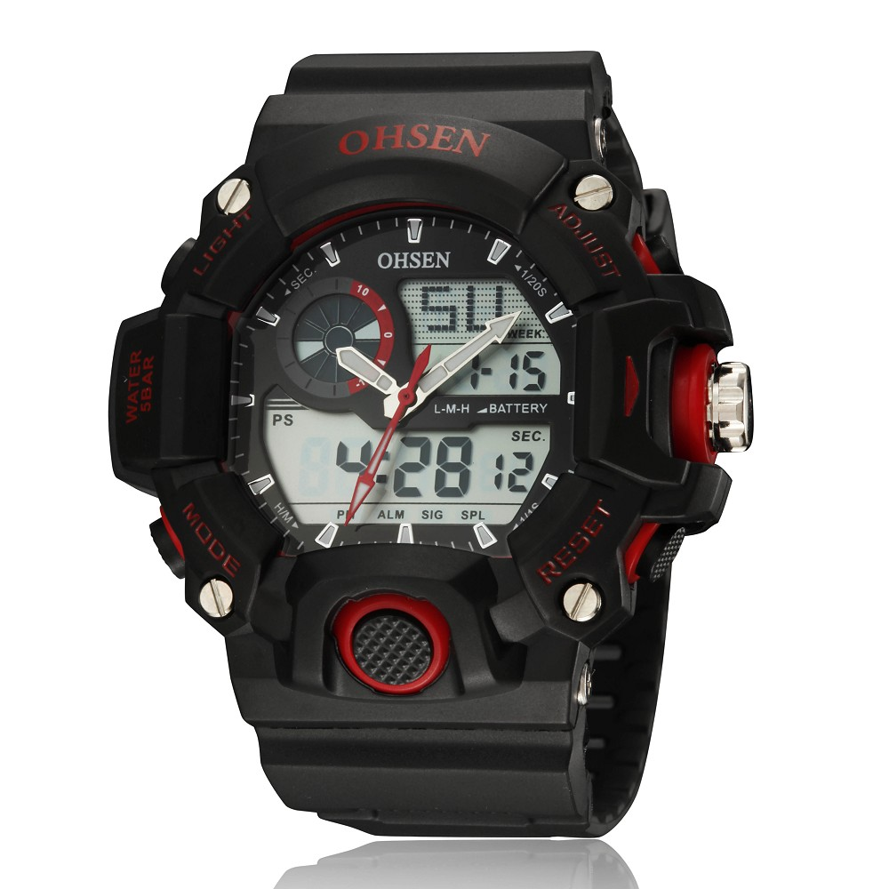 OHSEN Outdoor Casual Men Sports Watch Waterproof Fashion Digital Quartz Military Army Male Clock Mens Watches Reloj Relojes404<br><br>Aliexpress