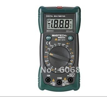 free shipping  Take test pencil   and temperature testing multimeter/MS8233C Digital Multimeter